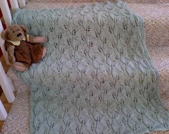 Botanical baby blanket