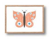 Screen Print - 'Butterfly'  Hand Pulled Screenprint