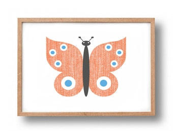Screen Print - 'Butterfly'  Hand Pulled Screenprint