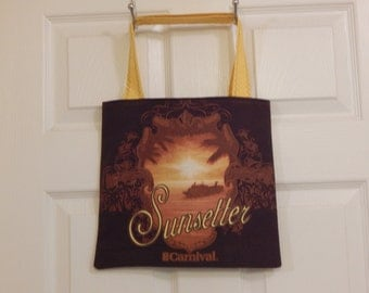 Up cycled Re cycled  Tote Bag Carnival Cruise