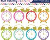 80% OFF SALE Alarm Clocks Clipart Graphics Personal & Commercial Use Clock Clip Art