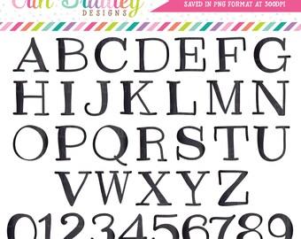 ON SALE Black Clipart Alphabet Digital Scrapbooking Alpha Instant Download Commercial Use Clip Art