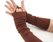 Arm Warmers in Rich Cocoa Brown - Sleeves - Fingerless Gloves