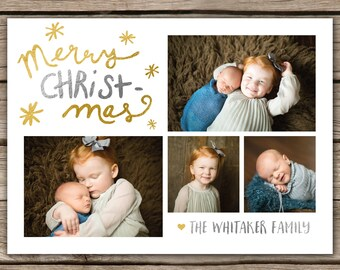 Merry CHRISTmas - DIGITAL Custom Christmas Holiday Photo Card