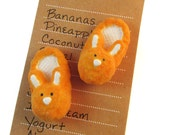 Bunny Magnets - Cute Fridge Magnets - Bunny Slippers - Office Decor - Easter Gift