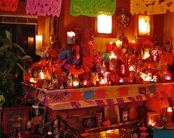 2010 Day of the Dead Altar- Let's Celebrate--Original  Photograph by MARIPOSAFUERTE