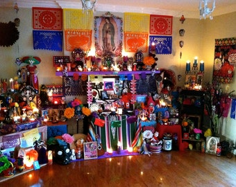 2014 Day of the Dead Lighted Altar- A Signed Fine Art Photograph-  Let's Celebrate
