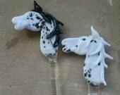 Handmade Glass Horse Swizzle Stick