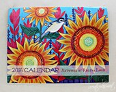 2016 Wall Calendar - Birds, Blooms & Butterflies - Art by Regina Lord