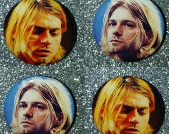 Kurt Cobain 1.25in button pin badge
