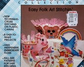 Plastic Canvas Easy Folk Art Stitching Pattern Book  Plaids Book No. 8116 - 15 Pages