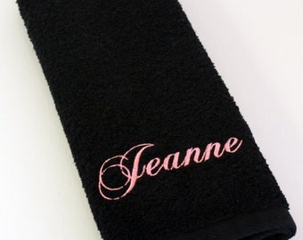 Personalized Name Embroidered Terry Hand Towel - Set of 2