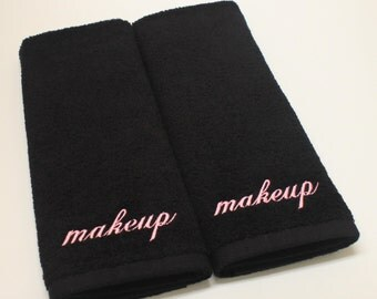 Makeup Embroidered Terry Hand Towel - Set of 2