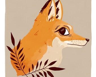 Fox Familiar - Print