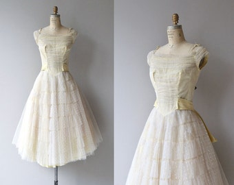 Chances Are dress | vintage 1950s dress | tulle 50s party dress