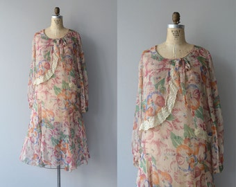 Aveleda silk dress | vintage 20s dress | floral silk 1920s dress