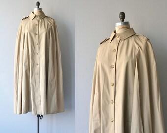 Bonnie Cashin cape | 1970s trench coat cape | long 70s cape