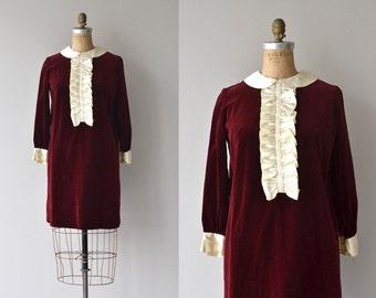Coeur Joie dress | vintage 1960s dress | mod velvet 60s dress