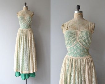 Farewell Year dress | vintage 1930s dress | lace 30s dress