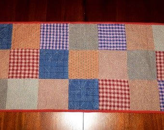 Americana Patriotic, Quilted Table Runner, Salr Priced, 16x37 inches, Machine Quilted, Table Topper, Dining Table Decor