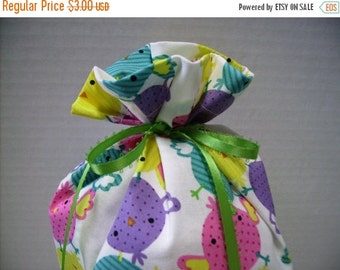 July Sale Gift Bag Easter Chicks on White