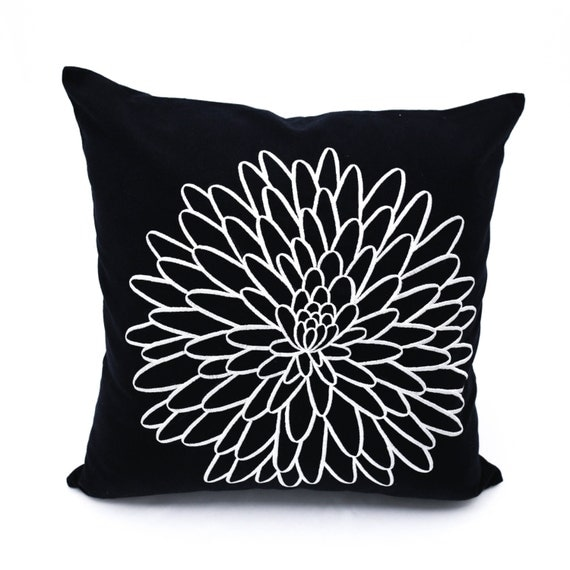 Decorative Pillows For Couch Etsy : Flower Pillow Cover Decorative Throw Pillow Cover Couch