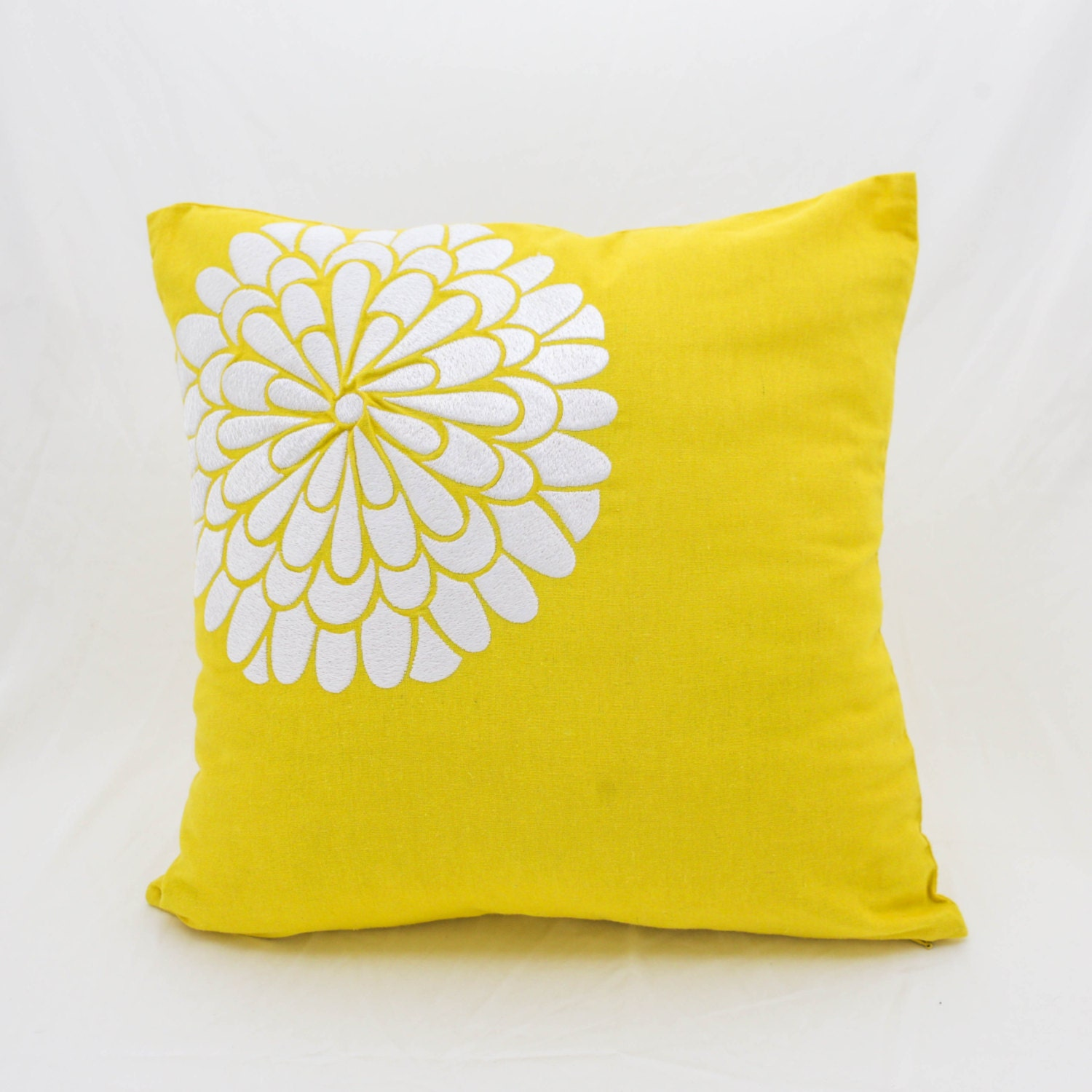 Decorative Floral Pillow Covers : Yellow Pillow Cover Floral Decorative Pillow Yellow Linen