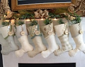 Nautical Christmas Stockings in Coastal Colors -- so Knotty AND Nice!