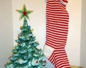 Christmas Stocking - CUSTOM ORDER for escott10 ONLY - No Noel Name - Will Say Mom (#44)