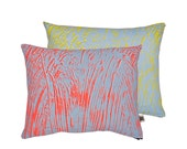 Painter Fluoro/Yellow Screen-Printed cushion