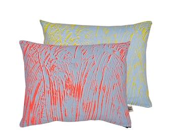 Painter Fluoro/Yellow Screen-Printed cushion