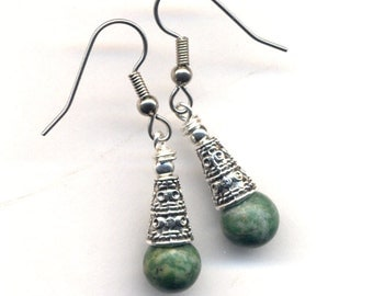 Choose Your Matching Earrings for 2 different Necklaces with Ming Pottery Pendants