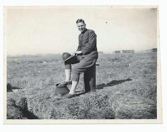 WW1 Soldier vintage photo 1917 snapshot