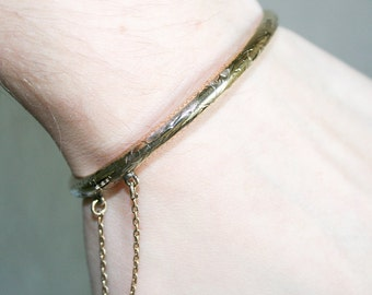 Gold Plated Sterling Silver Hinged Bracelet
