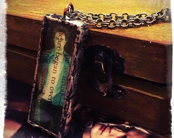 Twilight No Coffins? Soldered Edward Cullen pendant necklace