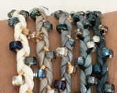 DIY Silk Wrap Bracelet or Silk Cord Kit DIY Craft Kit DIY Bracelet You Make Five Adult Friendship Bracelets in Winter Wonderland Palette