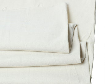 "Ivory Color - Heavy Cotton/Linen Fabric - 63"" x 1 yard"