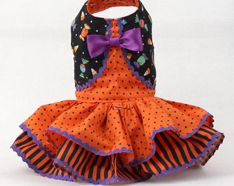 Dog Dress, Dog Harness Dress, Cute Dog Halloween Outfit, Custom Dog Dress, Ruffle, Dog Fashion for Small Dogs, Fancy Dress, Bolero, Treats