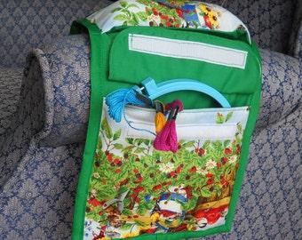 Summer Birds Sewing Caddy, Hand Sewing Organizer