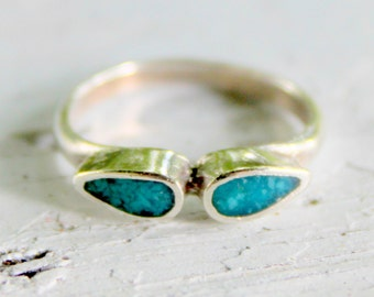 Sterling Turquoise Ring Vintage South West 925