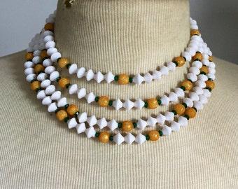 Vintage Necklace 1950s Multi strand Statement