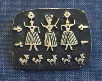 Alice Seely Brooch Pewter Pin
