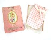 1960s Vintage Tussy's Budding Beauty Powder Mitt Glove in Pink Box Estate Sale