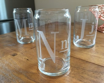 New Style Custom Monogrammed Glass Cans - Glass Beer Can, Glass Soda Can