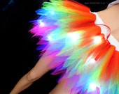 Pretty Rainbow Fairy Tutu with Lights 7 Layers Neon Colours