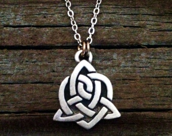 Celtic Sister Knot Necklace | Celtic Jewelry | Irish Jewelry | Scottish Jewelry | Handcrafted Jewelry | Fine Pewter by Treasure Cast