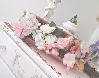 Vintage Millinery Flowers * Pink Roses * Corsage * Boutonniere * Shabby Chic