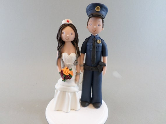 police officer and nurse wedding cake topper officer amp customized wedding cake topper 18671