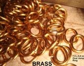 Vintage Jump Rings Brass 7.5 x 5 .5 mm Square Cut 200 pcs Jump Rings BL4
