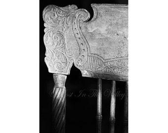 Victorian Chair, Fine Art Photography, Farmhouse Decor, Still Life Photo, Rustic Home Decor, Adirondack Style, Ethereal Art, Black and White